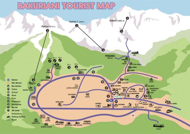 Bakuriani Tourist Map 2007
